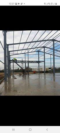 Vând hală metalică 15 m deschidere cu 54 lungime din profil IP