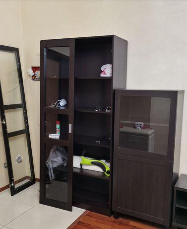 Шкафы Икеа цвета венге