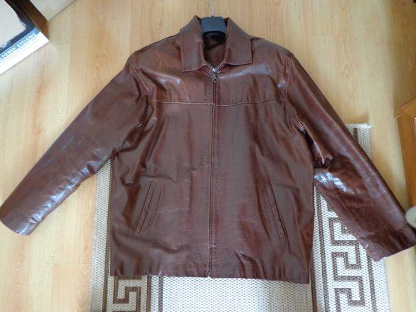 Мъжко кожено яке,естествена кожа телешки бокс !
