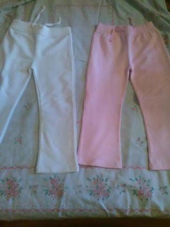 Pantaloni de trening roz si albi varsta 3-4ani