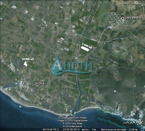 Уникален имот 6000 м2 в с.Ватопеди, Гърция, с проект за две къщи