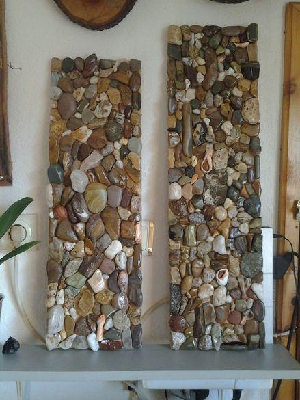 Пана с естествени морски камъни от Синеморец