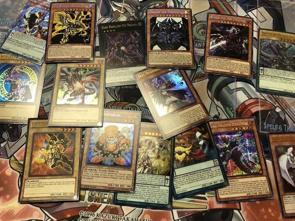 Оригинални Yu-Gi-oh! карти лотове rares holofoils super rare common