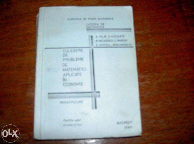 culegere de prob de matematici aplicate in economie 1986