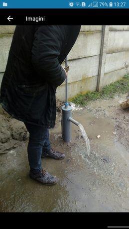 Fantani , puturi , foraje, pentru apa de santier si de udat gradina.