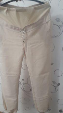 Легкие штаны для беременных, лен