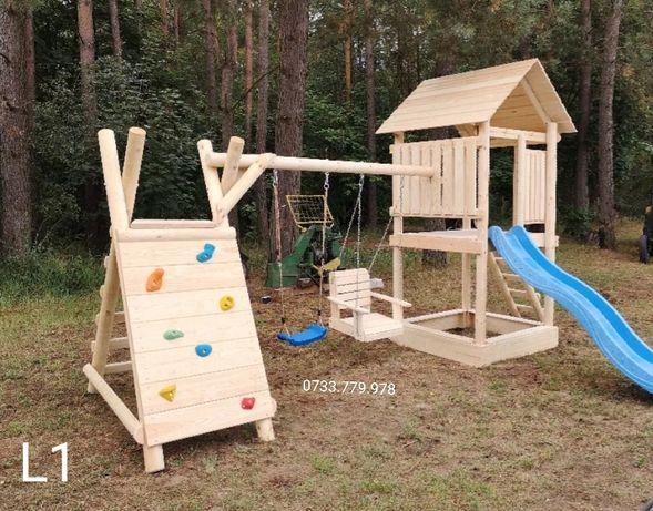 Spațiu   loc de joaca  căsuța  lemn copii