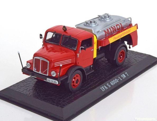Macheta IFA S4000-1 SW7 Camion cisterna 1960 - IXO/Atlas 1/43 (Minol)
