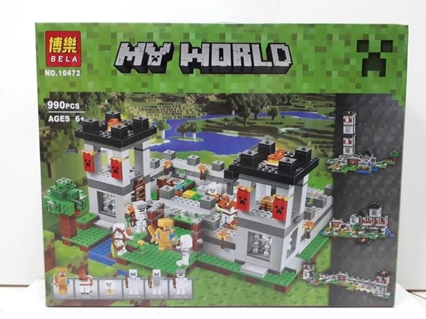 Конструктор Bela My world 990 pcs. Minecraft. Майнкрафт