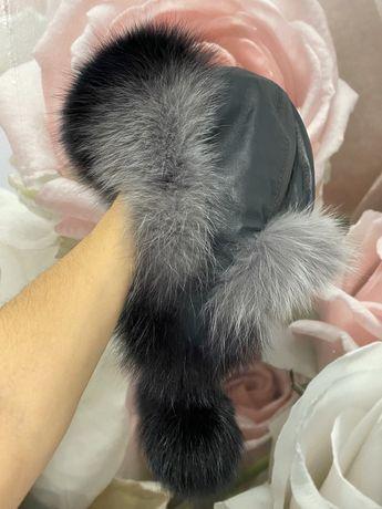 Ушанка чернобурка женская