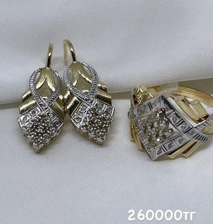 Ювилерные изделия Алтын Золото,Бриллианты проба:585/750/999
