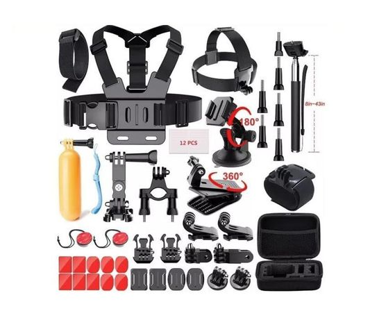 Промопакет 21 аксесоара за екшън камери gopro и аналози