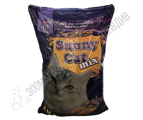 SunnyCat Mix/Liver 10кг - Суха храна за котки над 1 година - 2 вида