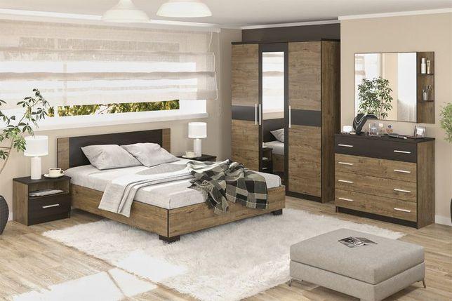 Комплект мебели для спальни Вероника, Дуб Април/Венге Темный