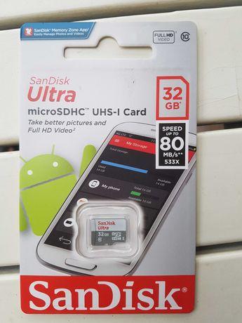 Нова карта памет 32 GB микро SDHC SAN DISK ULTRA и ADATA