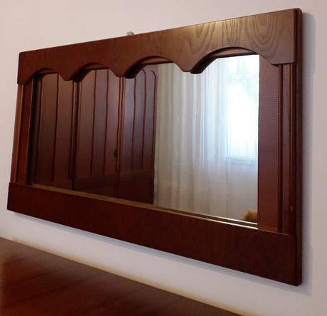 oglinda de hol, dormitor, cu rama din lemn