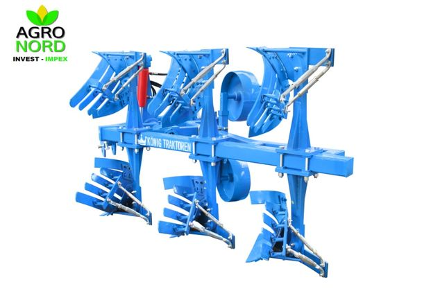 Plug agricol 3 trupite crestat reversibil hidraulic Konig CB70