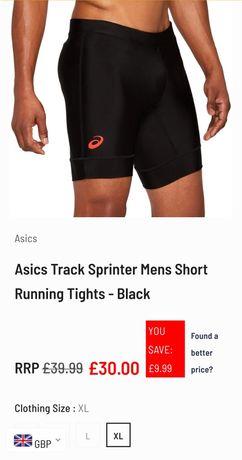 Шорты Asics (велосипедки) для бега мужские.