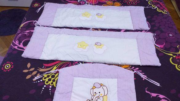 Детски много красиви обиколници за легло, чист памук-50лв.