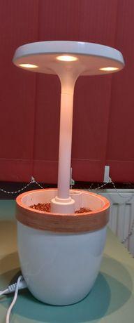 Ghiveci cu lumina LED pentru creste interioara