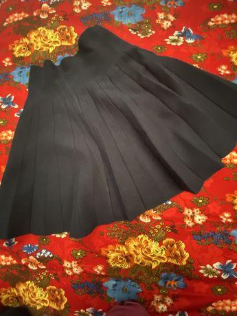 Хитовая плиссированная юбка темно-синяя в школу