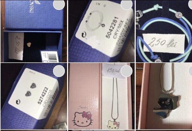Bijuterii Swarovski și Hello Kitty