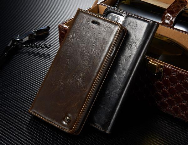 Husa iPhone 8 Plus, 7 Plus, piele fina CaseMe, inchidere magnetica