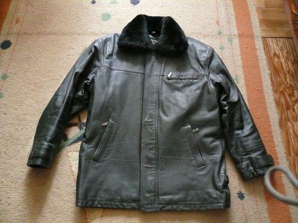 Куртка мужская кожаная с меховой подстёжкой 2 XL