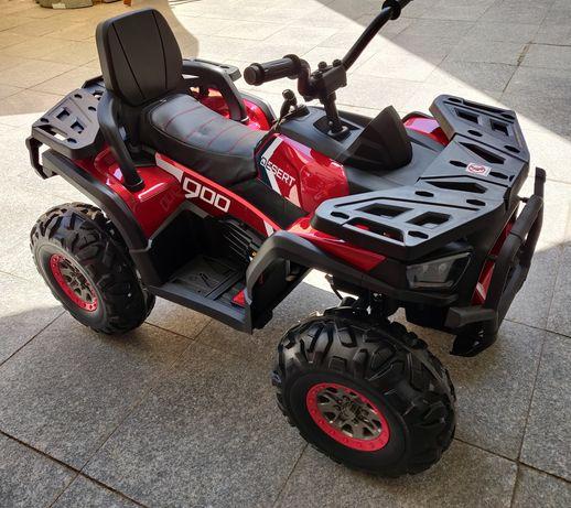ATV Electric pt. copii, 4 Motoare 12V 45W, Roti mari, Culoare Rosu
