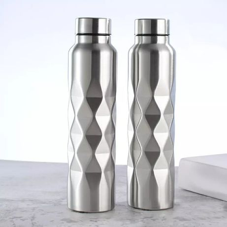 Бутылка фляга новая для воды алюминий 1 литр распродажа для спорта