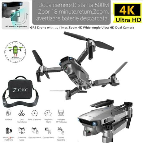 Drona GPS pro 4K,Distanta 500 metri,zbor 18min, 14 Megapixeli,Zoom 50X