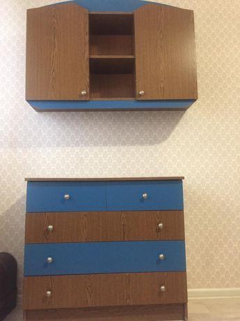 Навесной шкаф, комод, письменный стол и помощник