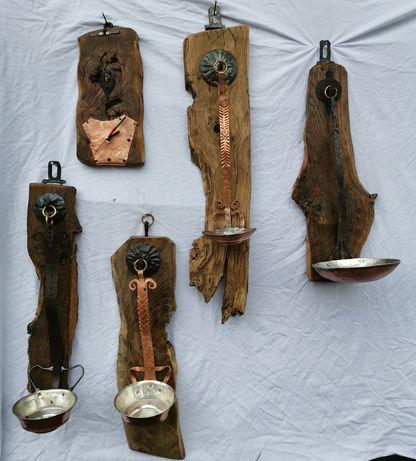 Арт свещници и часовник