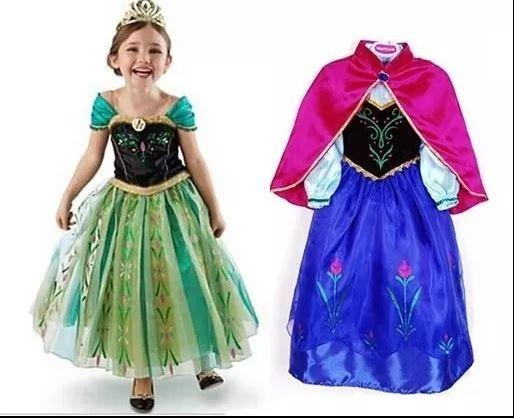 Rochita Anna sora Elsa, Rochie Frozen, party 3, 4, 5, 6, 7, 8 ani