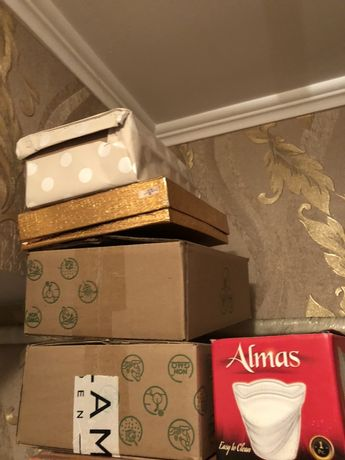 Коробки для посуды и обуви даром