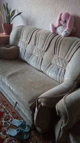 Мягкий уголок диван, 2 кресла