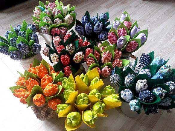 Текстилни лалета ръчна изработка