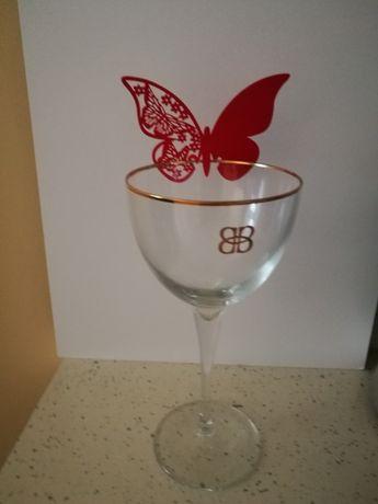 Декорация - червени пеперуди 120 бр