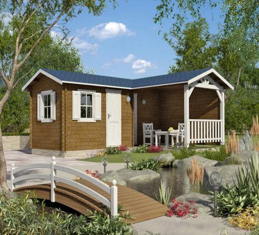 Сглобяеми дървени преместваеми къщи масив 27м2 - дървени бунгала масив