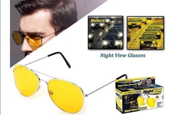 Очила с метални рамки и жълти стъкла за шофиране
