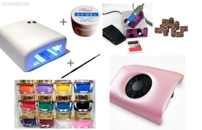 pila electrica aspirator praf unghii lampa uv 36w,kit unghii