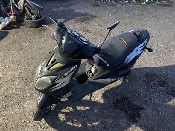 НА ЧАСТИ! Скутер Longjia Versus 2TX 50 куб 2011 г. Scooter LJ50QT - F