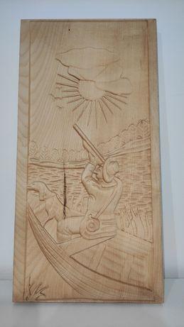 Sculptura in lemn - Vanatorul -