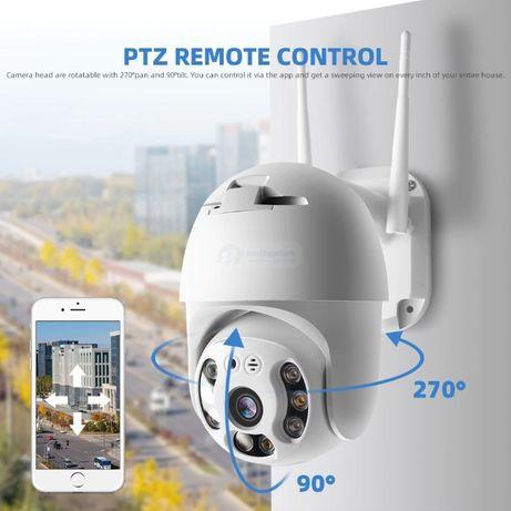 Безжична IP Камера с нощно виждане,FULL HD,Водоустойчива,5MP,ТОП ЦЕНА!