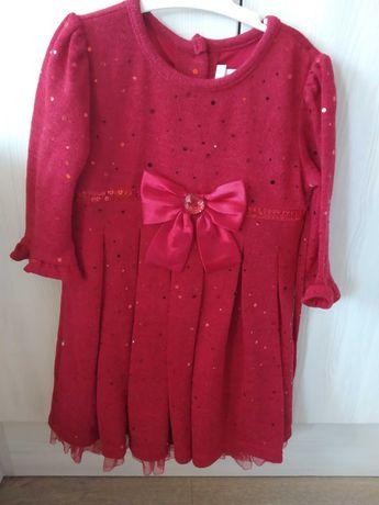 Коледна червена рокля и НОВА блуза Next 4-5 години