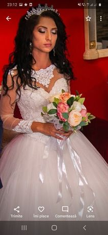 """Vand rochie de mireasă cu dantelă Marimea 36"""" 38 cu corset reglabil"""