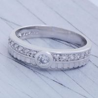 GPR223,inel placat aur alb, logodna, 14k, superb