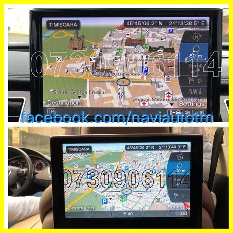 Harti 2020 AUDI MMI 3G+ HDD Basic DVD SD Romania A4 A5 A6 A7 A8 Q5 Q7