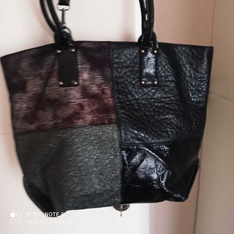 Чанта в лак и нюанси