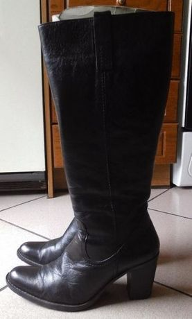 Черни ботуши естествена кожа